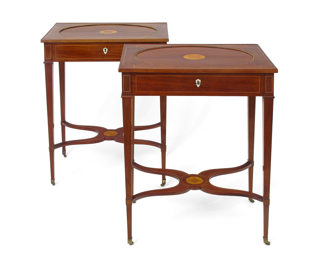A pair of late Gustavian sewing tables