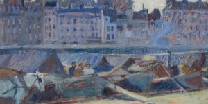 Dufy - La Cite, vue du quai de lHotel de Ville